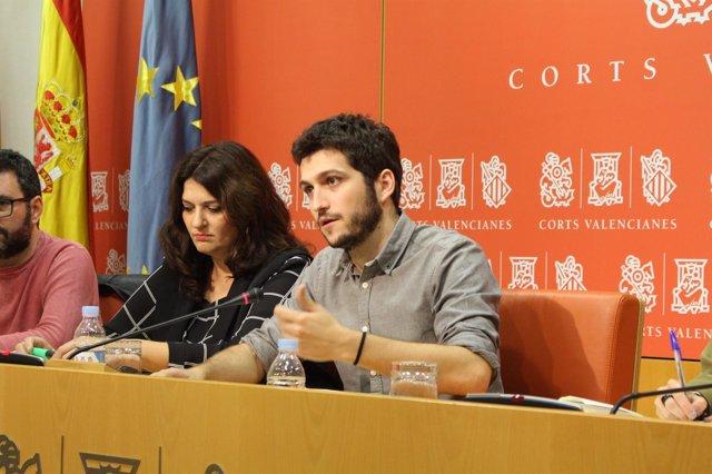 Antonio Estañ y Fabiola Meco en rueda de prensa