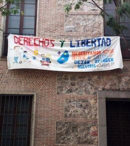 Pancarta colegio Madrid