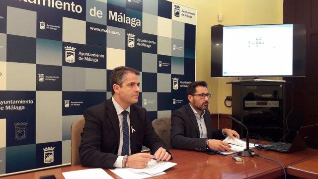 Carlos Conde y Francisco Pomares ediles concejales ayto málaga urbanismo haciend