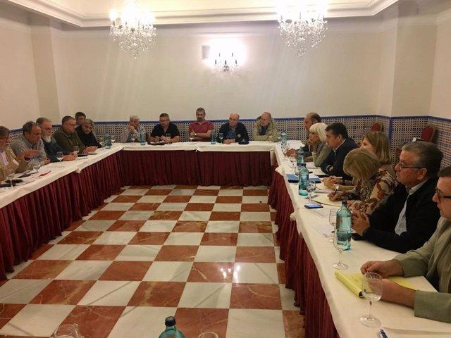 Sanz reunido con los comité de empresas de Navantia