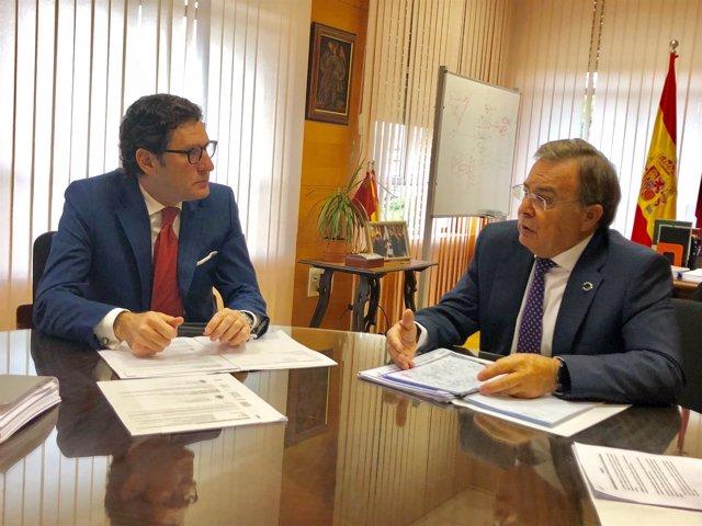 Patricio Valverde, y el presidente del TSJ, Miguel Pasqual del Riquelme