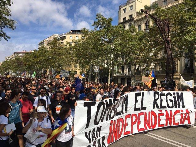 Manifestación de los CDR en Barcelona por el 1-O (archivo)