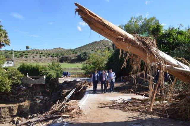 Visita diputado Coín daños lluvias