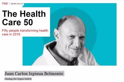 La revista TIME elige a Juan Carlos Izpisua como una de las 50 personas más influyentes de 2018 en el ámbito de la salud