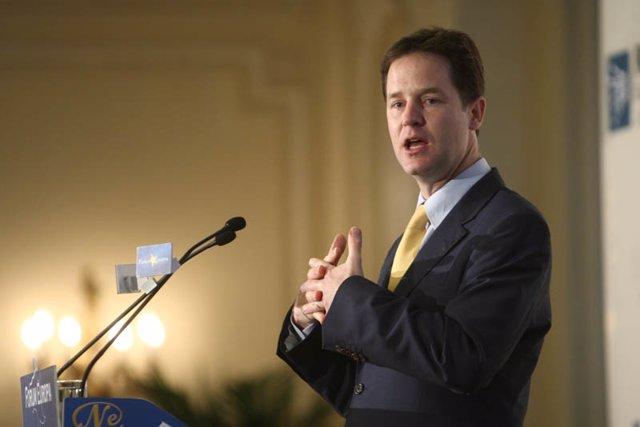 Viceprimer ministro británico, Nick Clegg