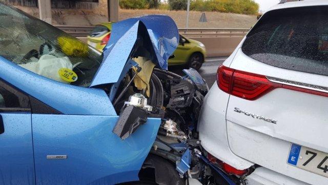 Un detalle del accidente