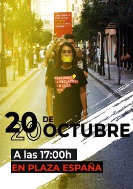 Cartel de la caminata contra la trata y la exclavitud sexual en Palma