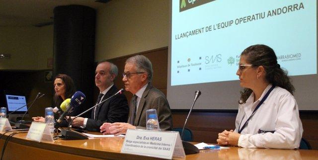 Presentación del proyecto sanitario Aptitude en Andorra
