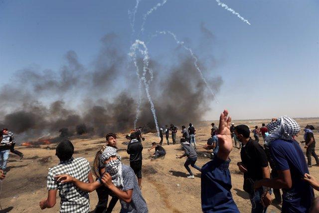 Movilizaciones en la Franja de Gaza