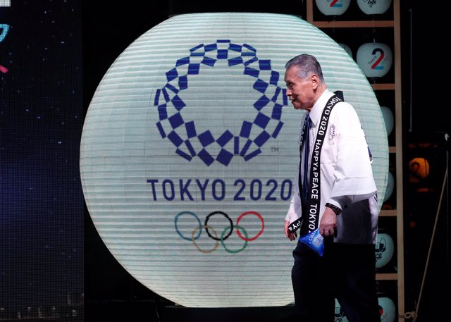 Yoshiro Mori, president of the Tokyo 2020 Organising Committee, attends a countd