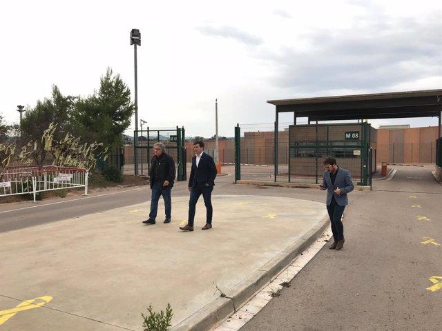 Joan Tardà y Sergi Sabrià (ERC) tras ver a Junqueras en la cárcel de Lledoners
