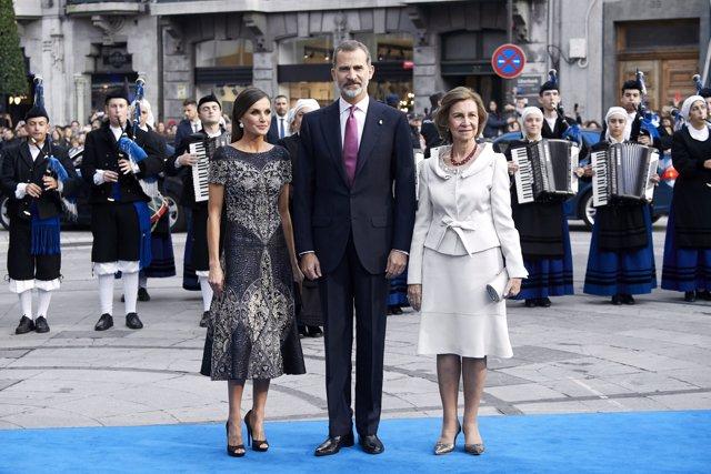 Los Reyes en la entrega de los premios Princesa de Asturias