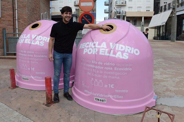 Alcañiz se ha sumado a la campaña de Ecovidrio contra el cáncer de mama