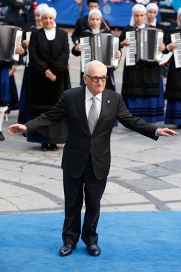 Martin Scorsese a su llegada al Campoamor.