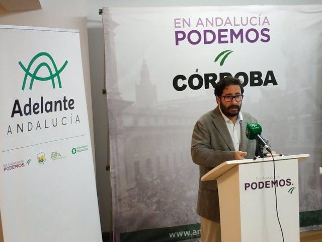 El candidato de Adelante Andalucía, David Moscoso