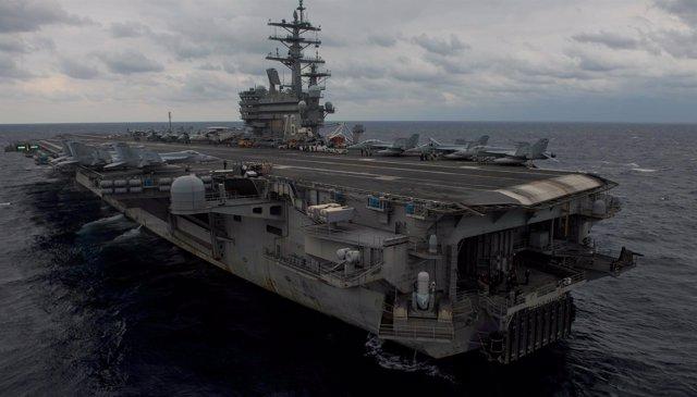 El portaaeronaves estadounidense 'USS Ronald Reagan'