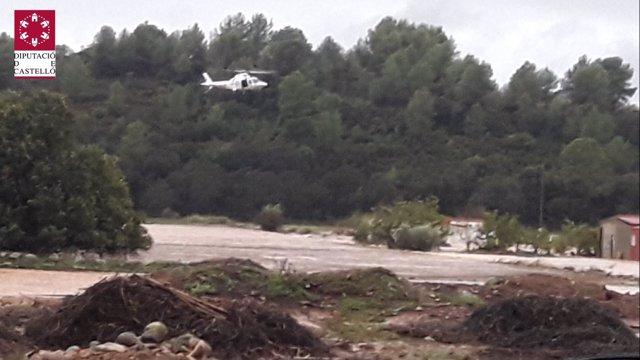 Rescate en helicóptero en La Montalba