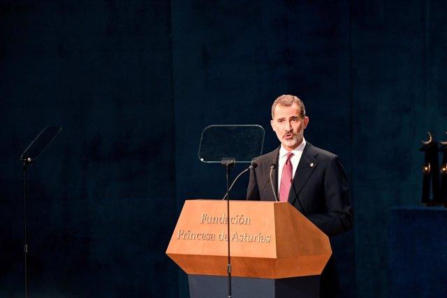 El Rey Felipe VI en los Premios Princesa de Asturias