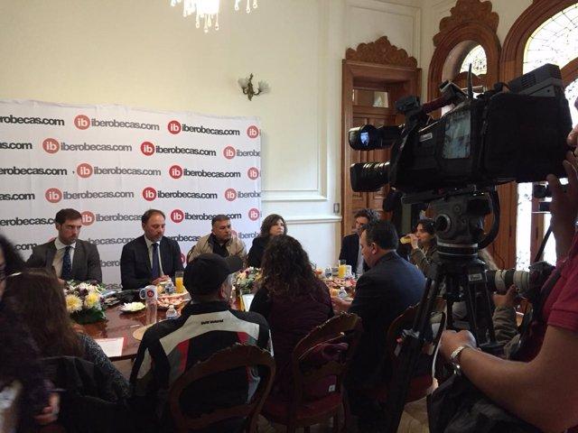 Presentación e la plataforma Iberobecas en México