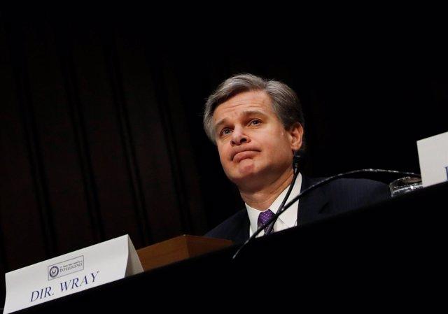 Christopher Wray, director del FBI, en el Senado