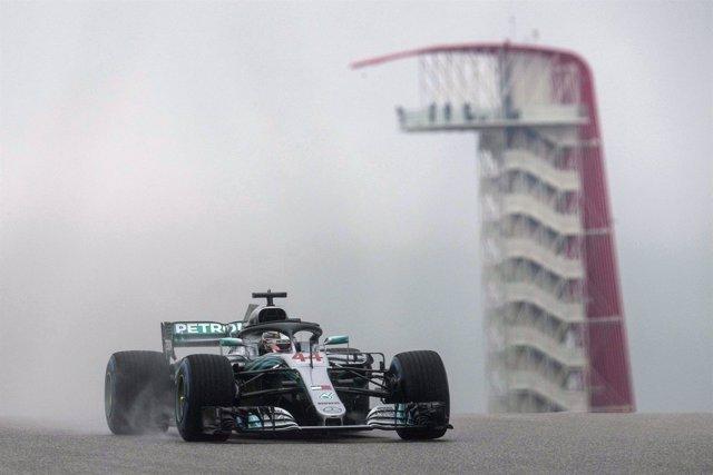 Lewis Hamilton en el Gran Premio de Estados Unidos
