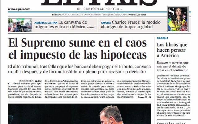 Las portadas de los periódicos del sábado, 20 de octubre del 2018