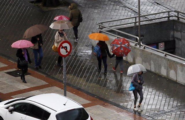 Temporal de lluvia en España