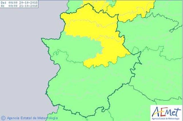 Alertas 20 de octubre en Extremadura