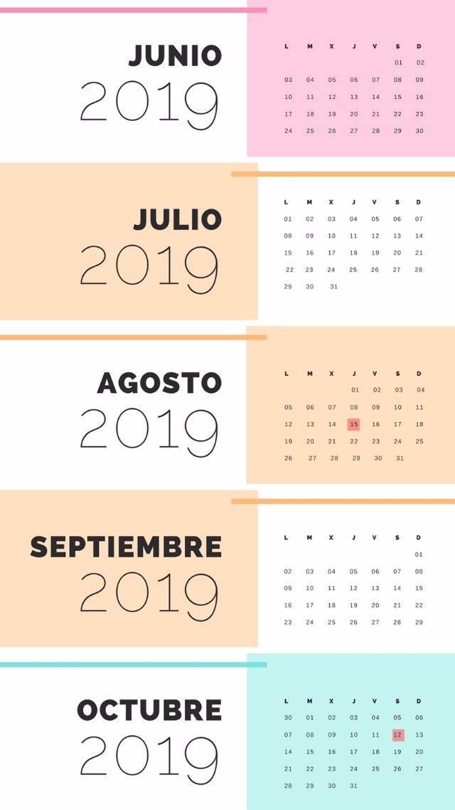 Calendario Laboral Santander 2020.El Calendario Laboral De 2019 Recoge 12 Dias Festivos Solo 8