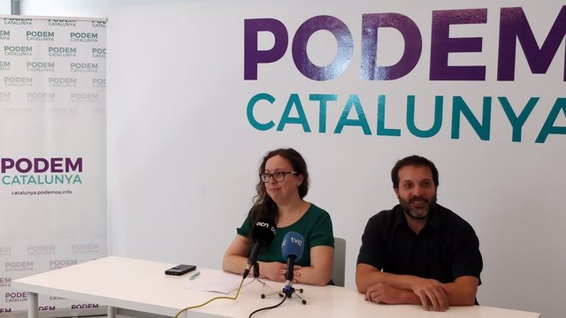 La nueva secretaria general de Podem, Noelia Bail, en rueda de prensa