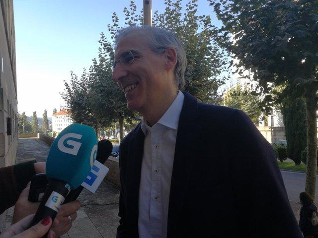 Francisco Conde en declaraciones a los medios