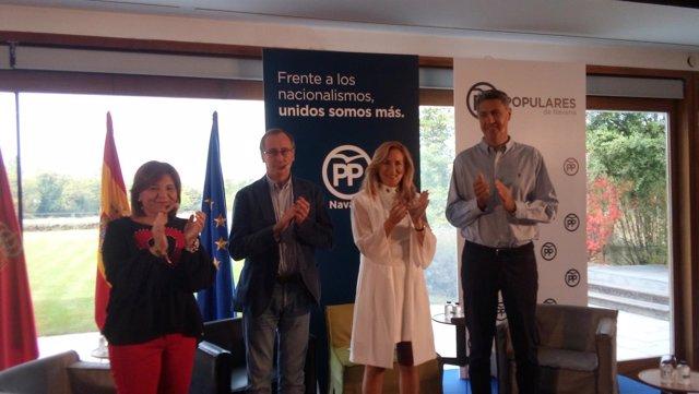 Isabel Bonig, Alfonso Alonso, Ana Beltrán y Xavier García Albiol