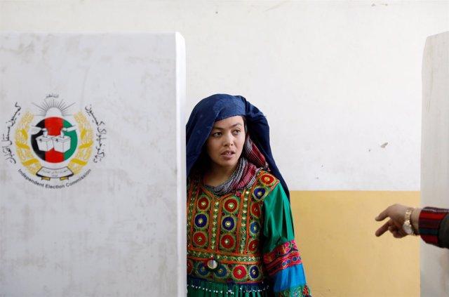 Voto en las elecciones de Afganistán