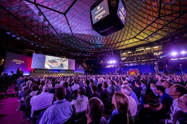 Imatge de l'Assemblea de Socis Compromissaris del FC Barcelona 2018