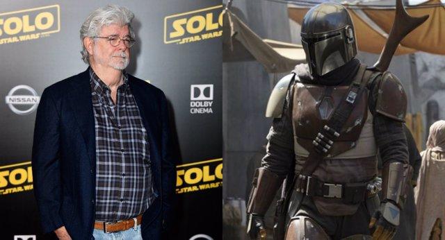 George Lucas visita el set de El Mandaloriano