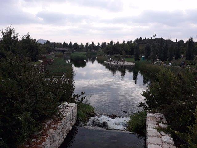 El parque de la Marjal, pensado para recoger agua en fuertes lluvias