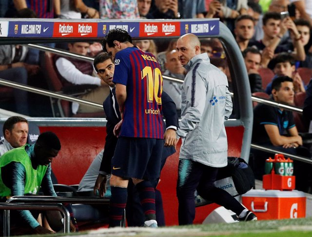 Messi estará tres semanas de baja por una fractura en el radio
