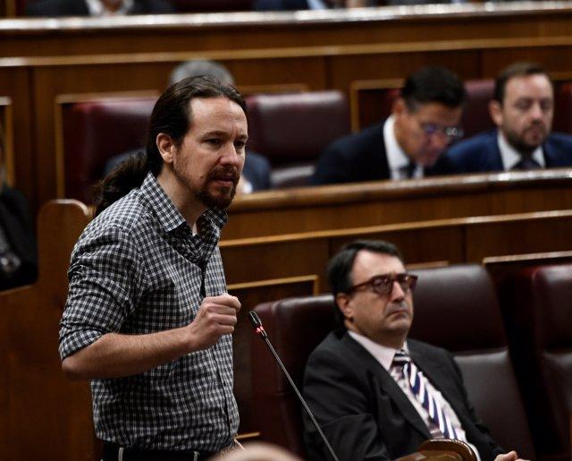 Foto de archivo de Pablo Iglesias, secretario general de Podemos