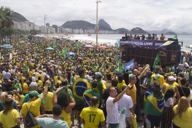 Manifestación pro Bolsonaro en Brasil