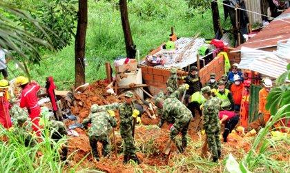 Al menos nueve muertos por un corrimiento de tierra en el norte de Colombia