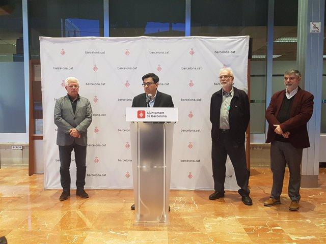 Ricard Vinyes, Gerardo Pisarello, Eduard Amoreaux y Xavier Albertí