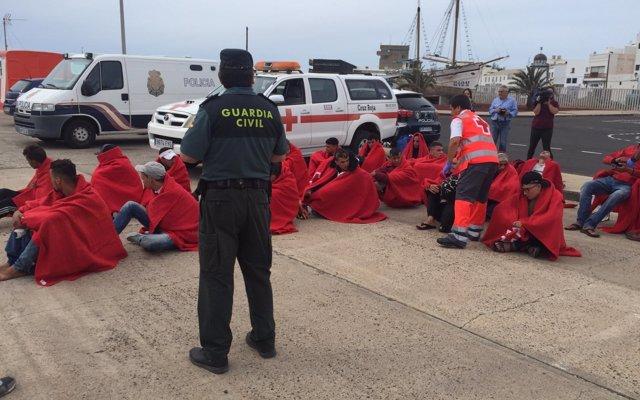 Llega una patera a Lanzarote con 24 inmigrantes