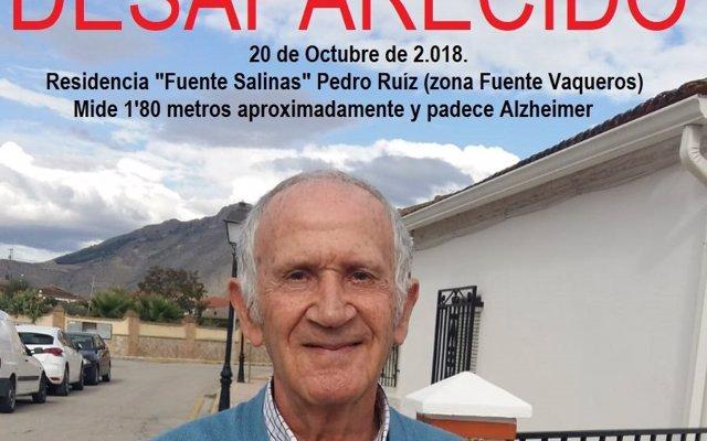 Buscan a un anciano con Alzheimer desaparecido en una pedanía de Santa Fe (Granada)