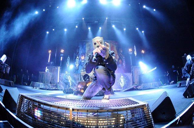 Corey Taylor cantante de Slipknot, en un concierto