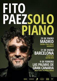 Fito Páez actuarà a Madrid, Barcelona i Las Palmas de Gran Canaria (CHARCO)