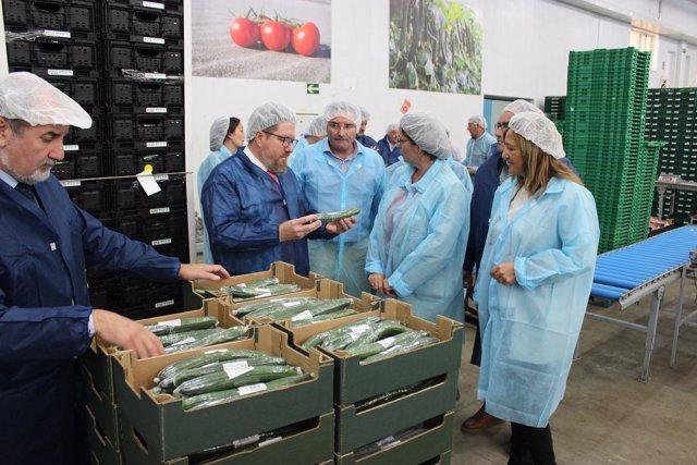 El consejero de Agricultura visita Biosol