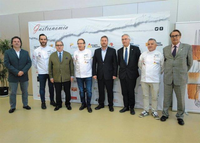 Visita inaugural al V Certamen Nacional de Gastronomía.