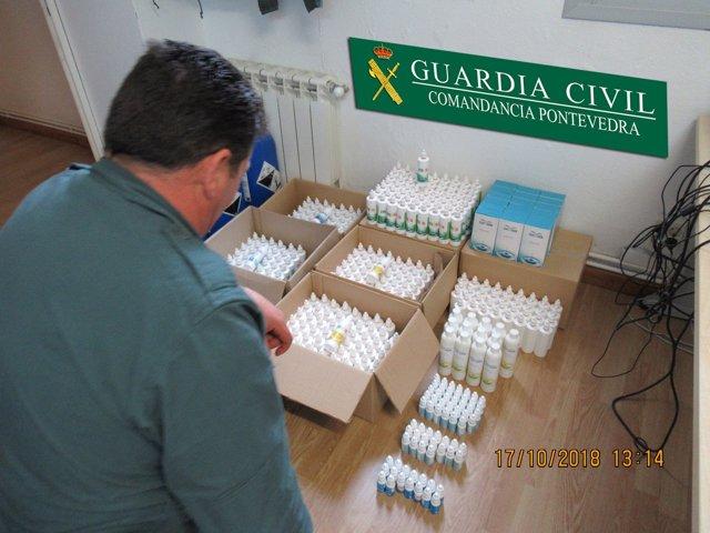 Más de cien litros de MMS incautados en Cangas.