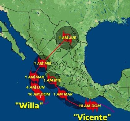 El huracán Willa gana fuerza y se acerca a la costa occidental de México