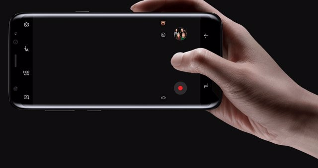 Cámara frontal de un teléfono Samsung